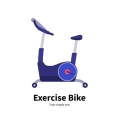 cartoon stationary exercise bike vector image vector image