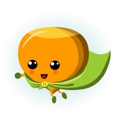Cute Hazelnut Superhero Cartoon vector image