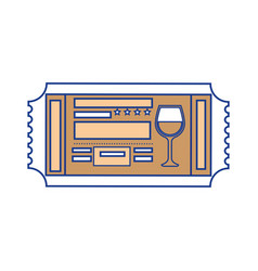 entertainment ticket icon vector image