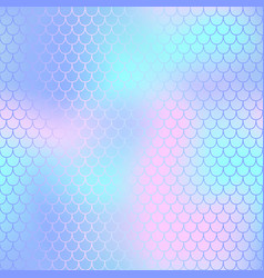 Fish scale pattern with pastel color mesh vector