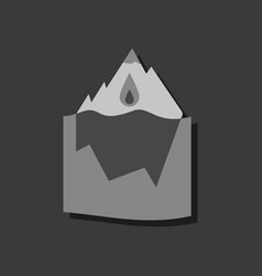 Flat icon design collection melted ice berg in vector