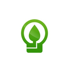 Green energy electricity icon vector