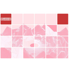 grid mountain landscape tiled pink abstraction vector image vector image
