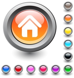 Home round button vector image