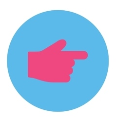 Index finger flat pink and blue colors round vector