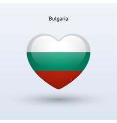 Love Bulgaria symbol Heart flag icon vector image vector image