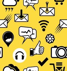 mobilni social media3 vector image vector image
