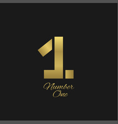 number one sign vector image vector image