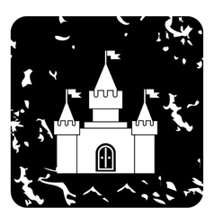 Royal castle icon grunge style vector