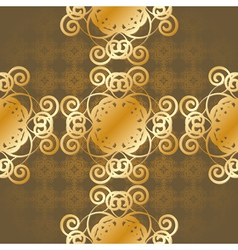 seamless gold background vector image vector image