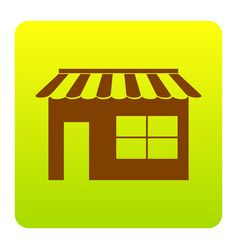 Store sign brown icon at vector