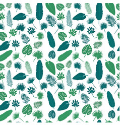 Tropical leaves seamless pattern exotic floral vector