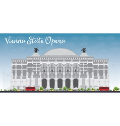 Vienna State Opera vector image