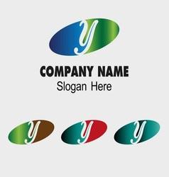 Y logo company name symbol letter y vector
