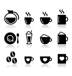 Coffee icon set - vector image
