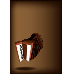 A retro accordion on dark brown background vector