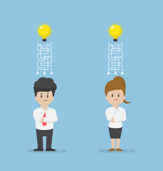 Businessman and businesswoman lost their idea vector