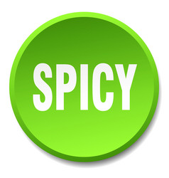Spicy green round flat isolated push button vector