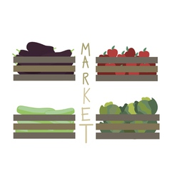 Farmer market vegetables vector
