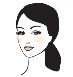 girl face vector portrait vector