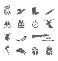 Hunting icon black set vector