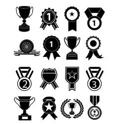 Awards icons set vector