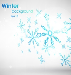 White christmas background with snowflakes vector