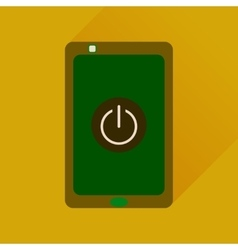 Flat icon with long shadow mobile phone switched vector