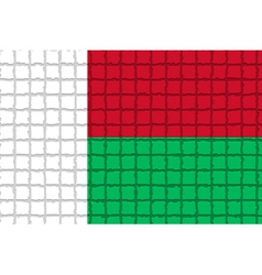 The mosaic flag of madagascar vector