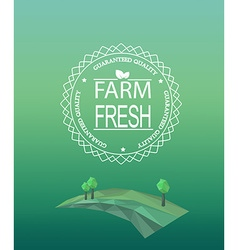 Farm fresh logotype in outline style vector