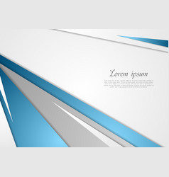 Abstract blue grey corporate background vector