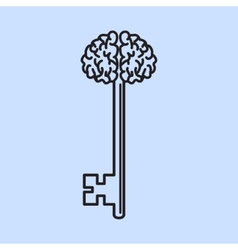 Abstract key with handle like brain vector