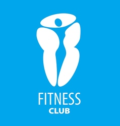 Abstract logo figure of the girl for a fitness vector
