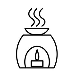 aromatherapy spa treatment line icon vector image