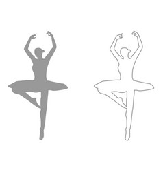 Ballet dancer set icon vector