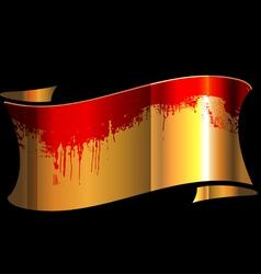 Bloody Ribbon vector image