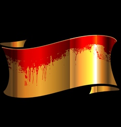 Bloody Ribbon vector image vector image