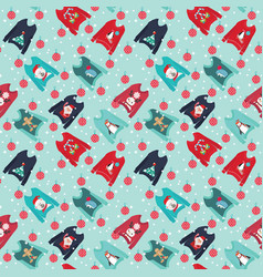 Christmas background with cute ugly christmas vector
