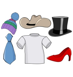 Clothes and accessories vector