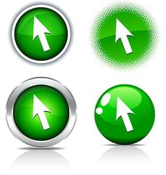 Cursor buttons vector