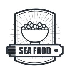 Delicious sea food isolated icon design vector