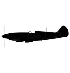 Fighter plane silhouette vector