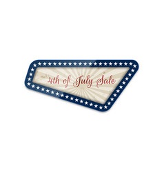 fourth of july sale national banner vector image vector image