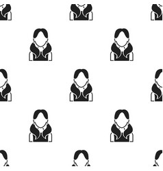 Girl with tails icon black single avatarpeaople vector