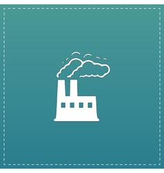 Industry flat icon vector