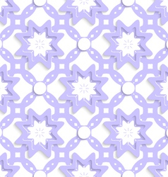 Light purple with stars and dots layered seamless vector