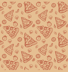pizza pattern vector image vector image