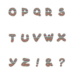 Romanian pattern capital letters vector