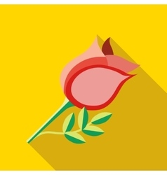 Rose icon flat style vector