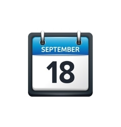 September 18 calendar icon vector